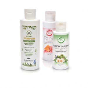 Medno biljni losioni, tonici, šamponi